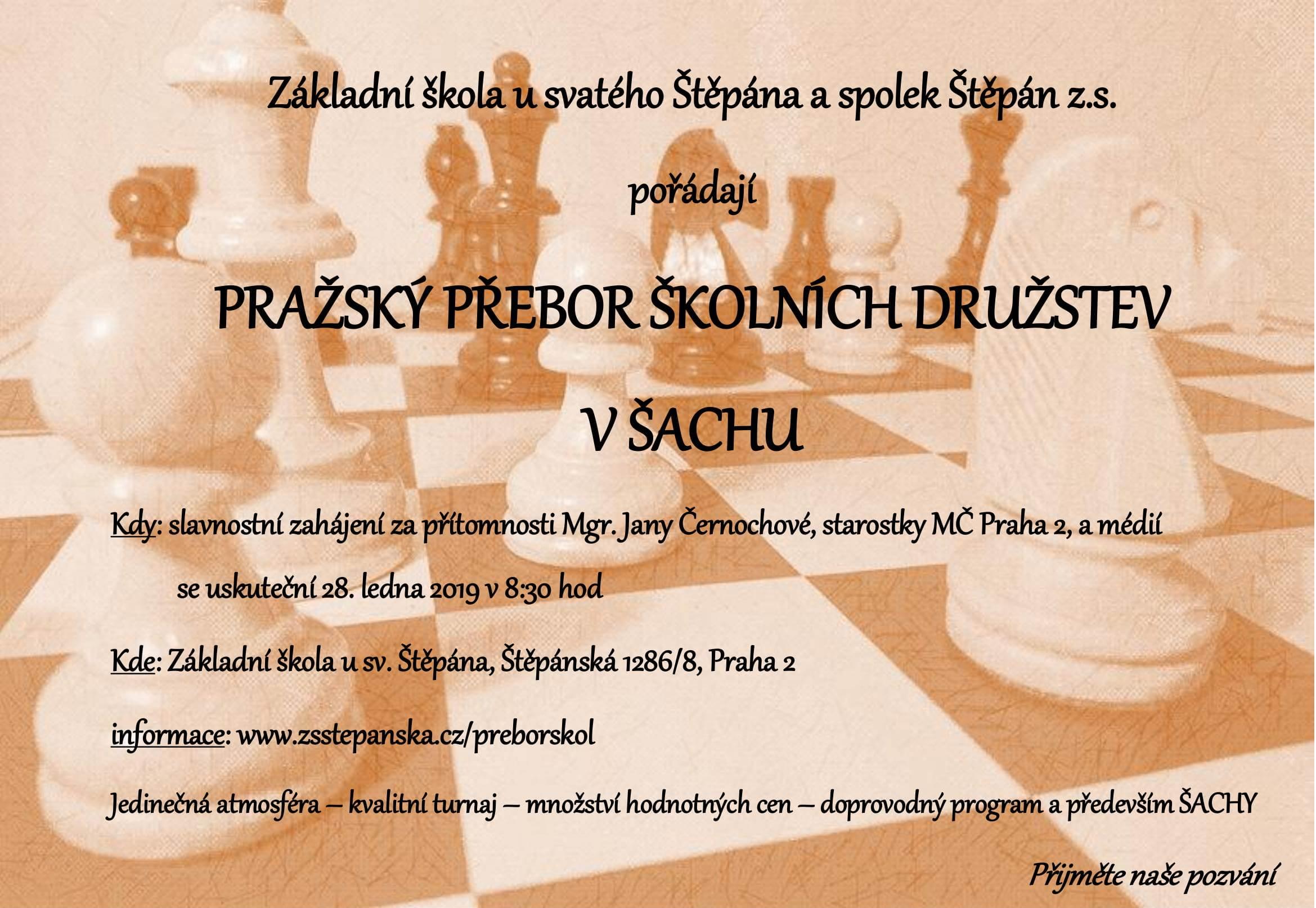 Pozvánka na pražský přebor škol
