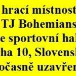 Družstva TJ Bohemians v 1. kole PPDD