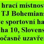 Problémy TJ Bohemians i ve 2. a 3. kole PPDD
